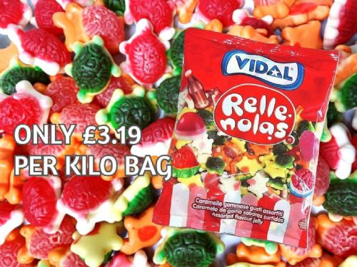 VID22 VIDAL JELLY FILLED TURTLES 1KG BAG